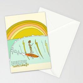 surf legend gerry lopez lightning bolt retro surf art by surfy birdy Stationery Cards
