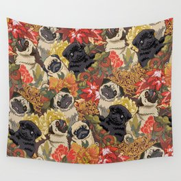 Because Pugs Autumn Wall Tapestry