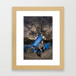 Bam Margera - Eerie tree, Blue ride Framed Art Print