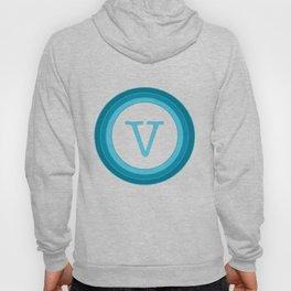 Blue letter V Hoody
