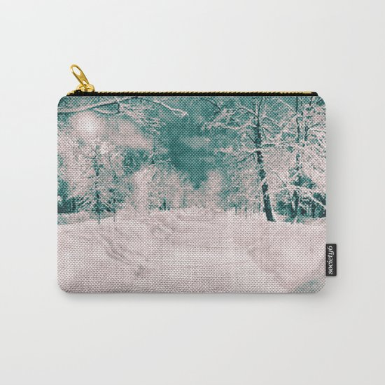 Winter wonderland. Halftone effect Carry-All Pouch