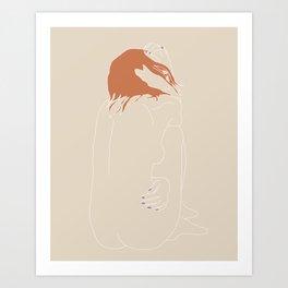 Nude-Orange Art Print