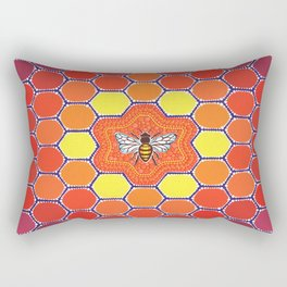 Bee Sacred Geometry Rectangular Pillow