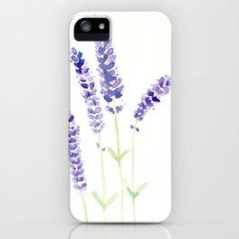 Lavender Sprigs iPhone Case