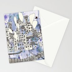 SLEEPING CITY Stationery Cards