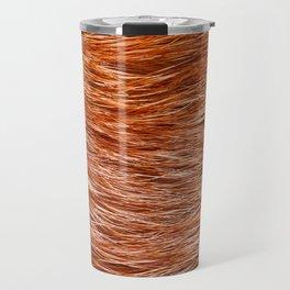 Red fox fur pelt texture cloth abstract Travel Mug