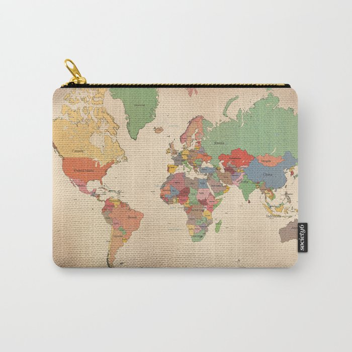 Mercator Map Modern Carry-All Pouch
