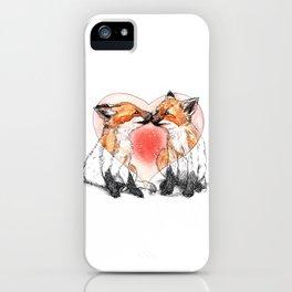 baby fox love iPhone Case
