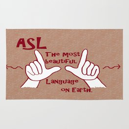ASL Most Beautiful Language Rug