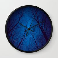 nietzsche Wall Clocks featuring I Have Loved the Stars too Fondly by soaring anchor designs