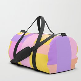 Pink Purple Geometry Duffle Bag