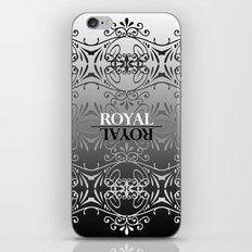Black and white lace pattern iPhone & iPod Skin