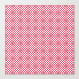 Wild Watermelon and White Polka Dots Canvas Print