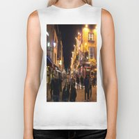 bar Biker Tanks featuring Temple Bar by Flattering Images