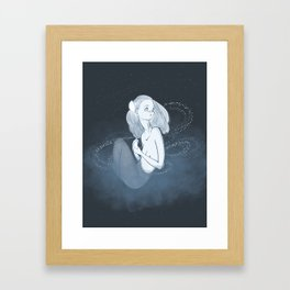 paper moon Framed Art Print