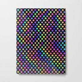 Rainbow Polka Dot Pattern Metal Print
