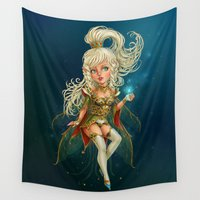 fairy Wall Tapestries featuring Fairy by DiMary