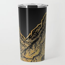 "遠望 series -""Gold Valley"" - Linocut Travel Mug"