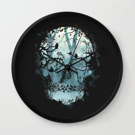 Dark Forest Skull Wall Clock