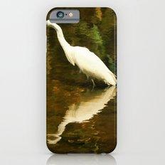 White Heron on Mill pond Slim Case iPhone 6s
