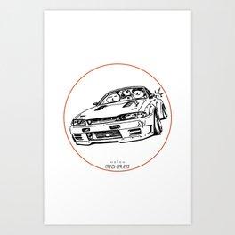 Crazy Car Art 0012 Art Print