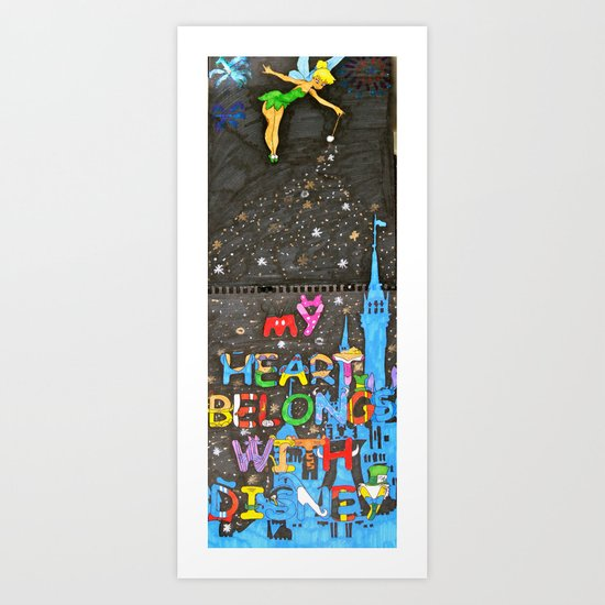 never too old for disney Art Print