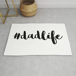#DadLife Black Typography Rug