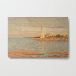 New London Connecticut Lighthouse by William Anderson Coffin Metal Print