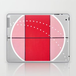 August - black and white graphic Laptop & iPad Skin