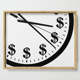 When Time Is Money Serving Tray