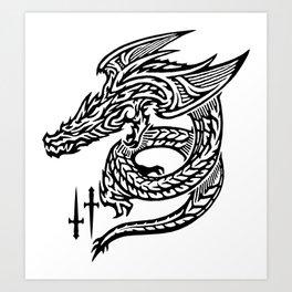 Wing Dragon Art Print