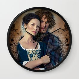 Claire and Jamie Wall Clock