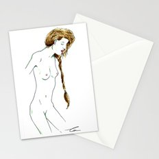 Plait Girl Stationery Cards