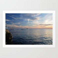 Sunset in Croatia  Art Print