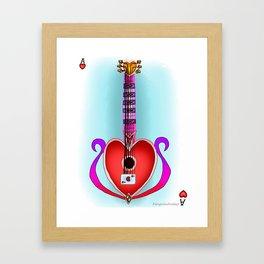 Keyblade Guitar #13 - Ladyluck Framed Art Print