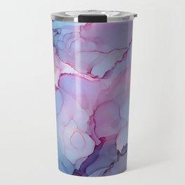 Alcohol Ink - Dreamy Clouds Travel Mug