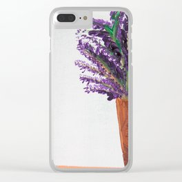Lavendar Clear iPhone Case