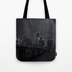 portland outline Tote Bag