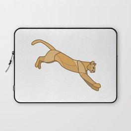 Geometric Mountain Lion / Cougar Laptop Sleeve