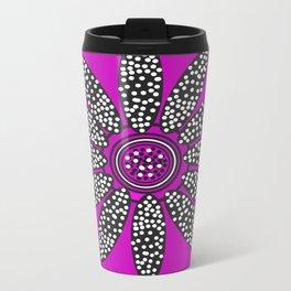 Daisy dots purple Metal Travel Mug