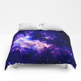 indigo galaxy : Celestial Fireworks Comforters