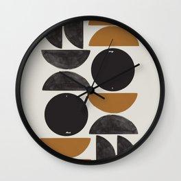 Geometry Shape Mid Century Organic Art Print Wall Clock