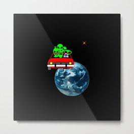 Ride to Mars selfie Metal Print