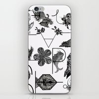 letters iPhone & iPod Skins featuring Letters by Isabella Polly