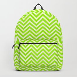 Lime Chevron Backpack