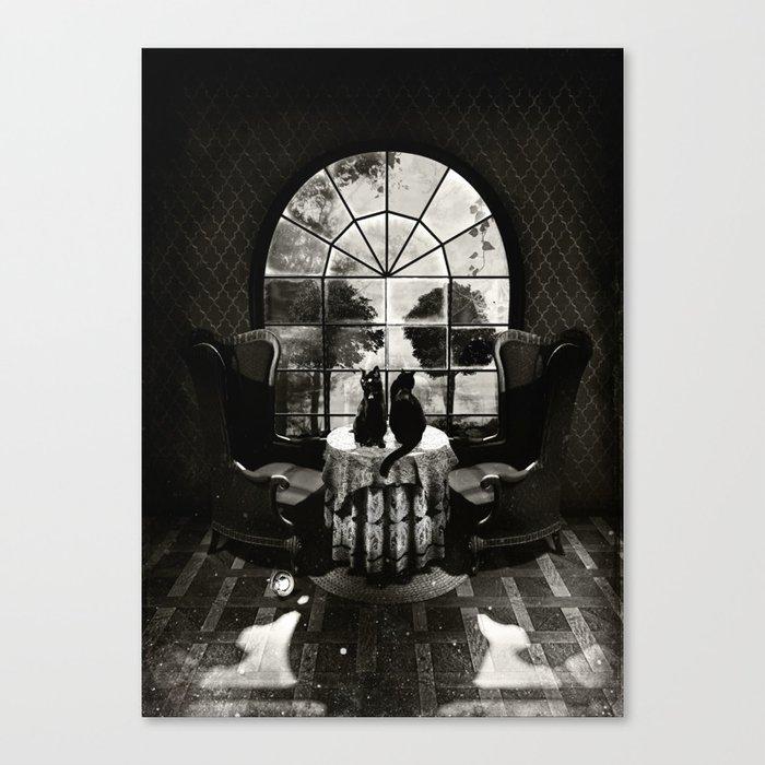 Room Skull B&W Leinwanddruck