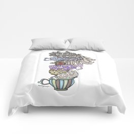 Owlice Wants Another Cup of Tea Comforters