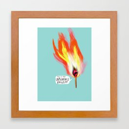 Life Gives You Lemons, and a Combustible Head Framed Art Print