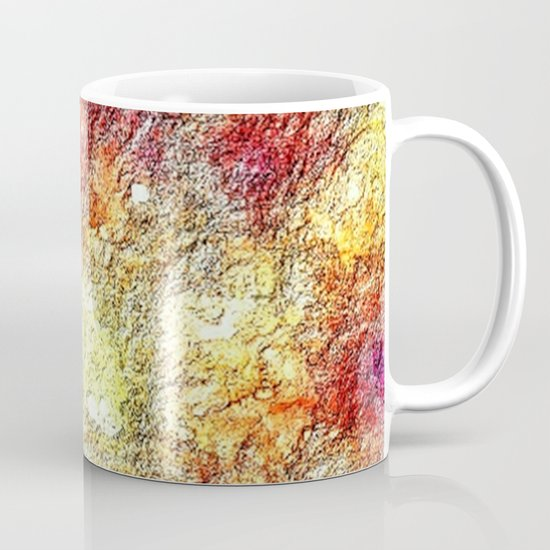 Colorful Warm Sunny Yellow Pink Orange Abstract Mug