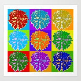 Poster with cornflower in pop art style Art Print